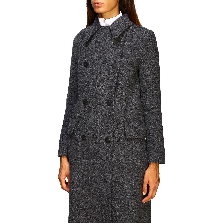 Manteau femme Harris Wharf London gris 5