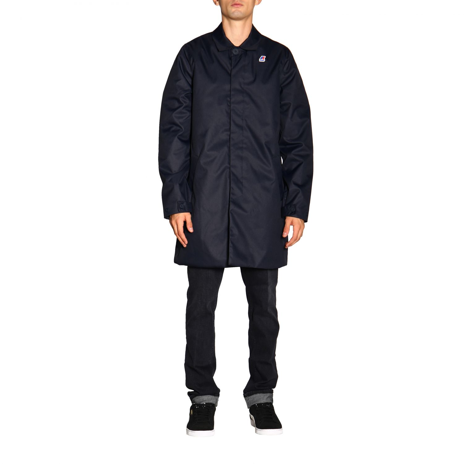 Coat men K-way blue 1