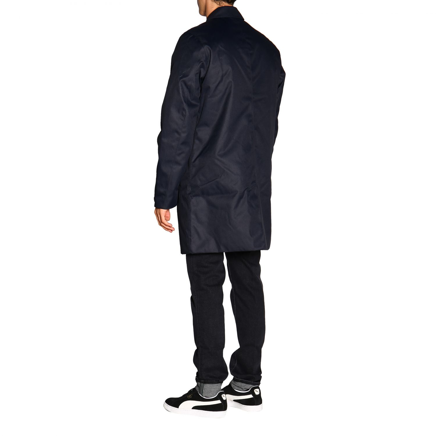 Coat men K-way blue 3