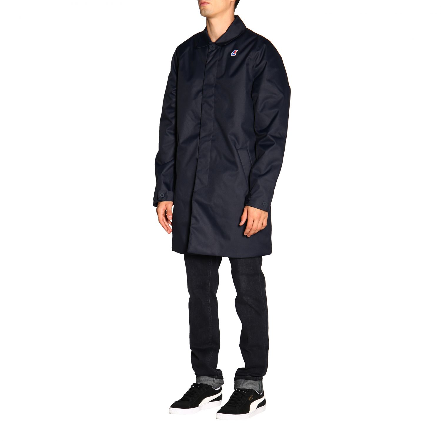 Coat men K-way blue 4
