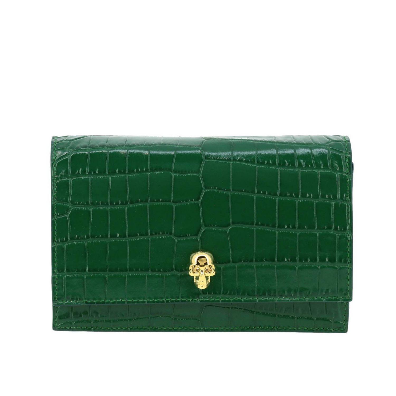 Mini bag Alexander Mcqueen: Clutch women Alexander Mcqueen green 1