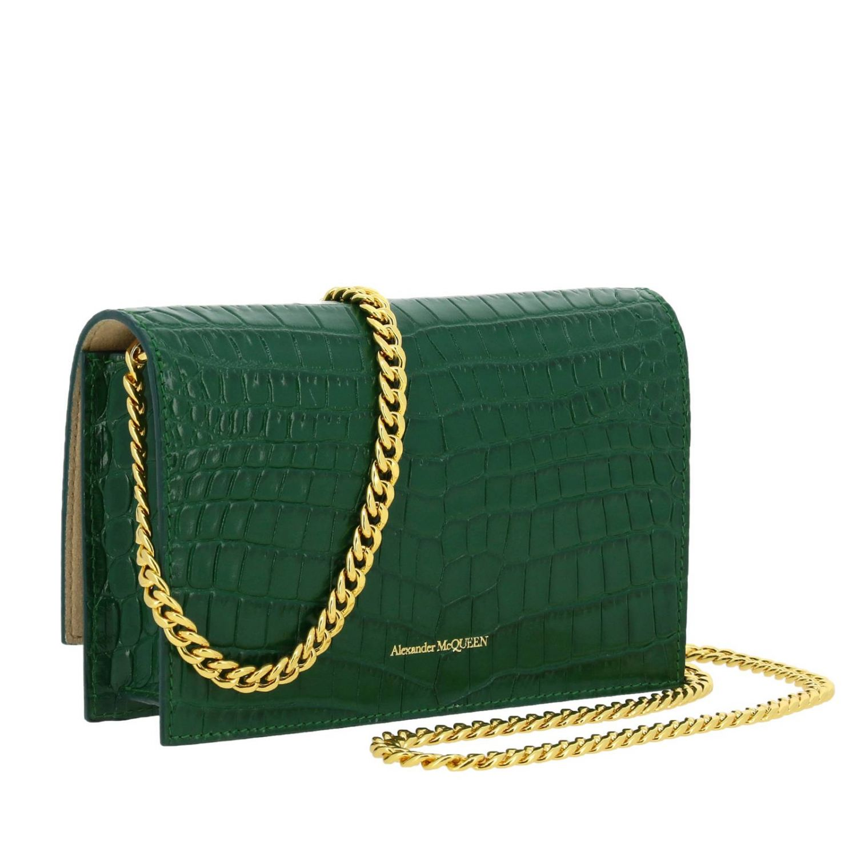 Mini bag Alexander Mcqueen: Clutch women Alexander Mcqueen green 3