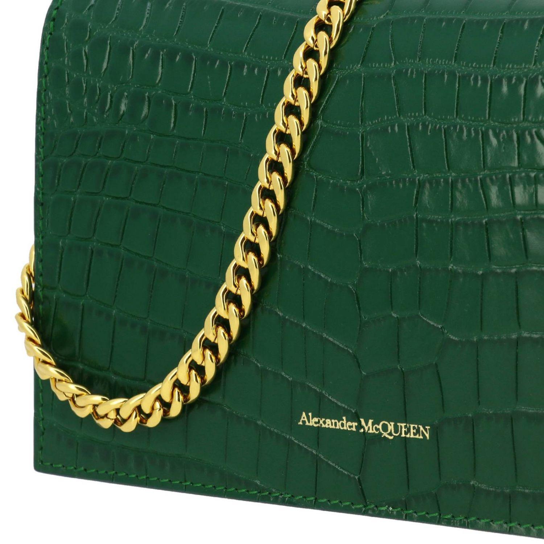 Mini bag Alexander Mcqueen: Clutch women Alexander Mcqueen green 4