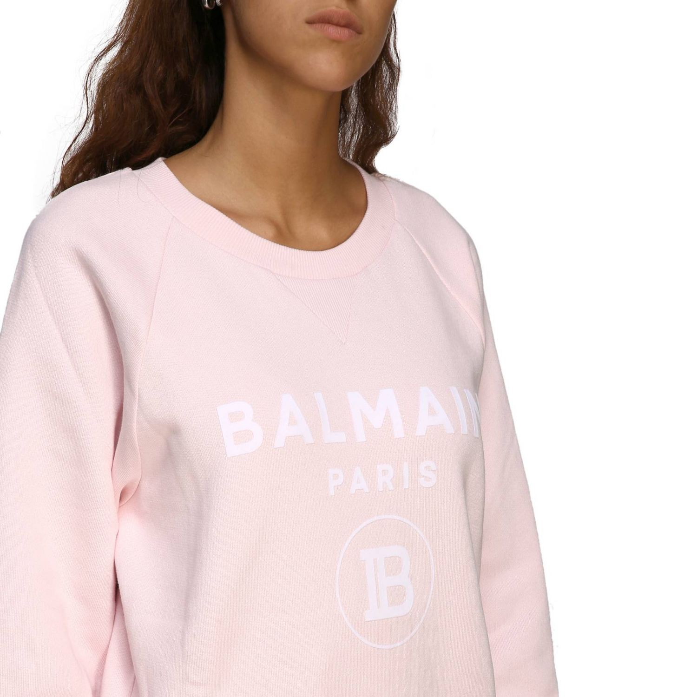 Balmain logo印花圆领卫衣 粉色 5