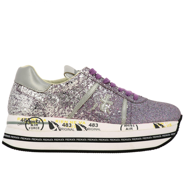 运动鞋 女士 Premiata 紫红色 1