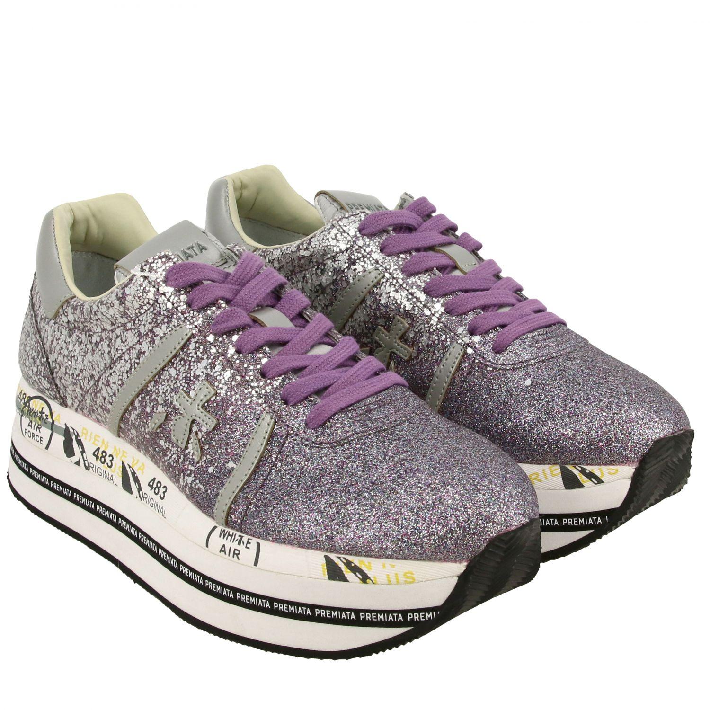 运动鞋 女士 Premiata 紫红色 2