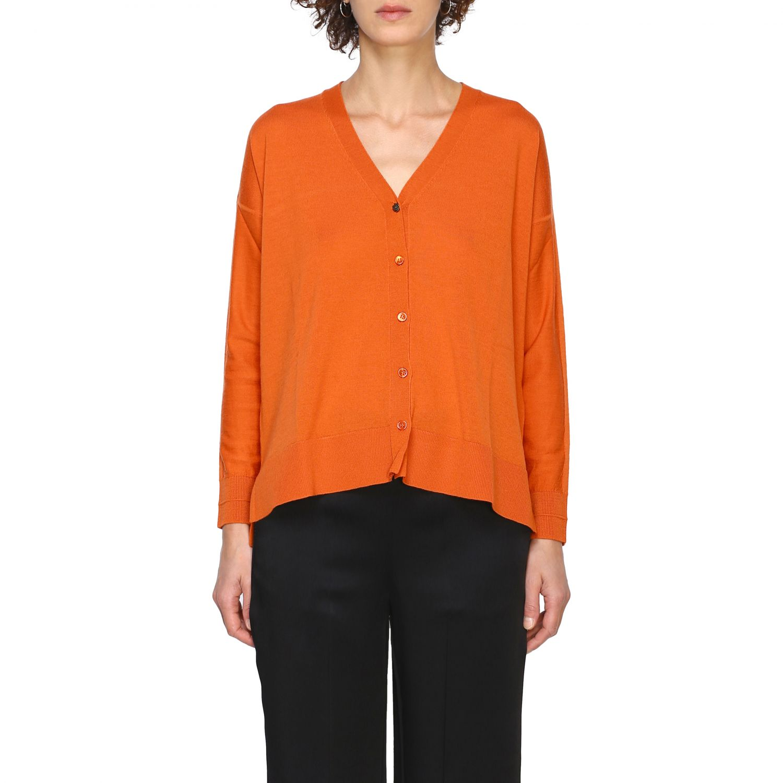 Cardigan Maliparmi: Cardigan donna Maliparmi arancione 1
