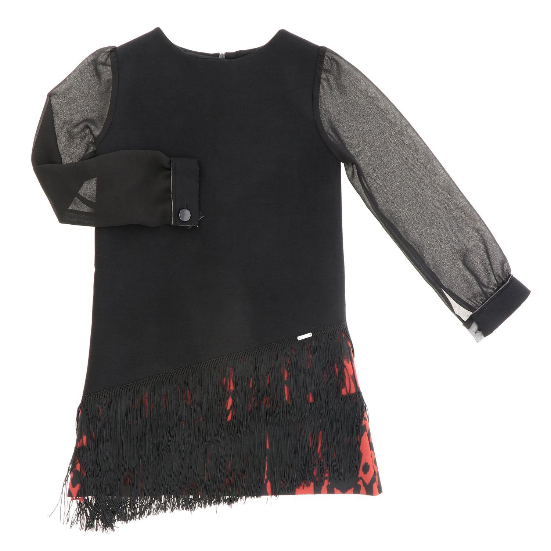 Robe enfant Loredana noir 1