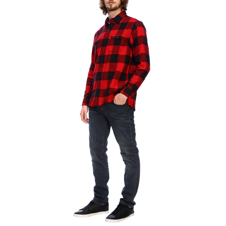 Рубашка Мужское Levi's красный 2