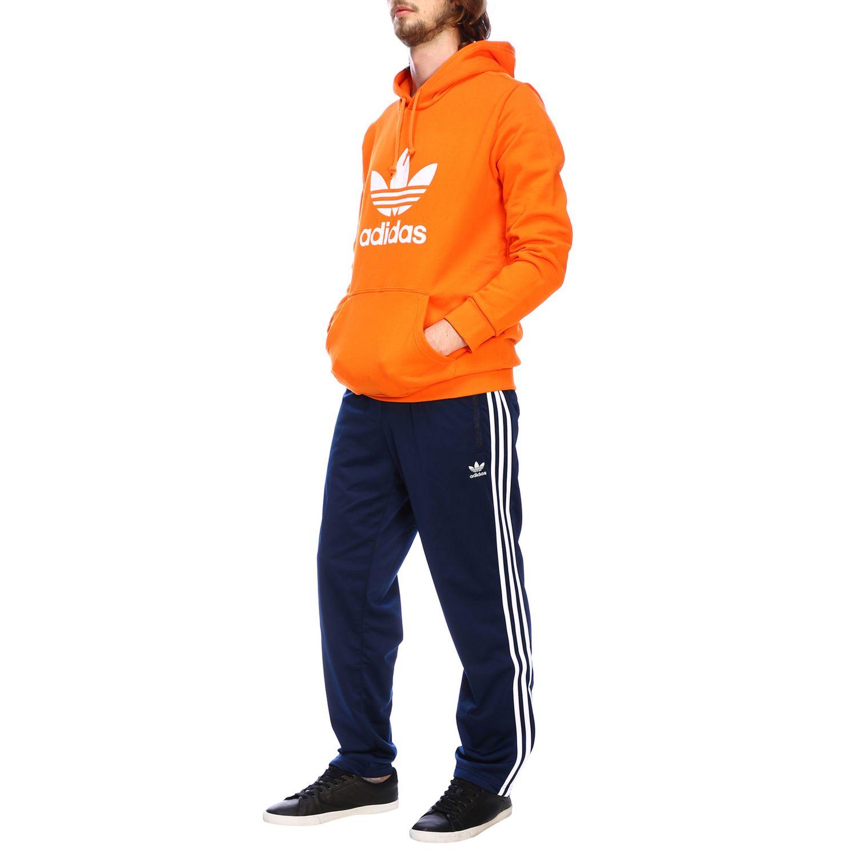 卫衣 Adidas Originals: Adidas Originals logo印花连帽卫衣 橙色 2