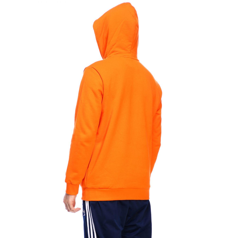 卫衣 Adidas Originals: Adidas Originals logo印花连帽卫衣 橙色 3
