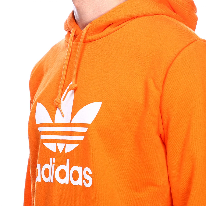 卫衣 Adidas Originals: Adidas Originals logo印花连帽卫衣 橙色 4