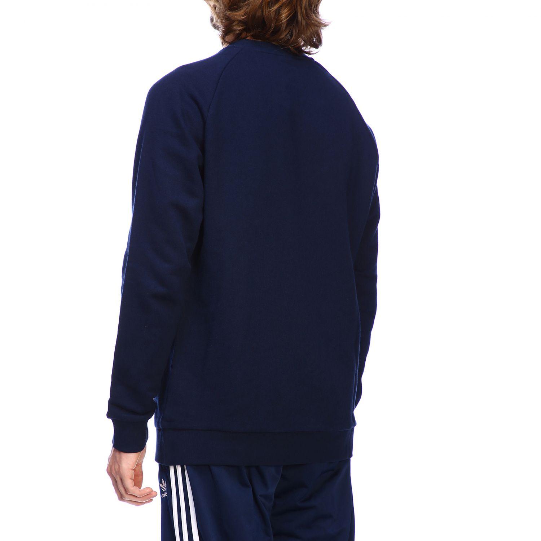 Adidas Originals logo印花圆领卫衣 蓝色 3