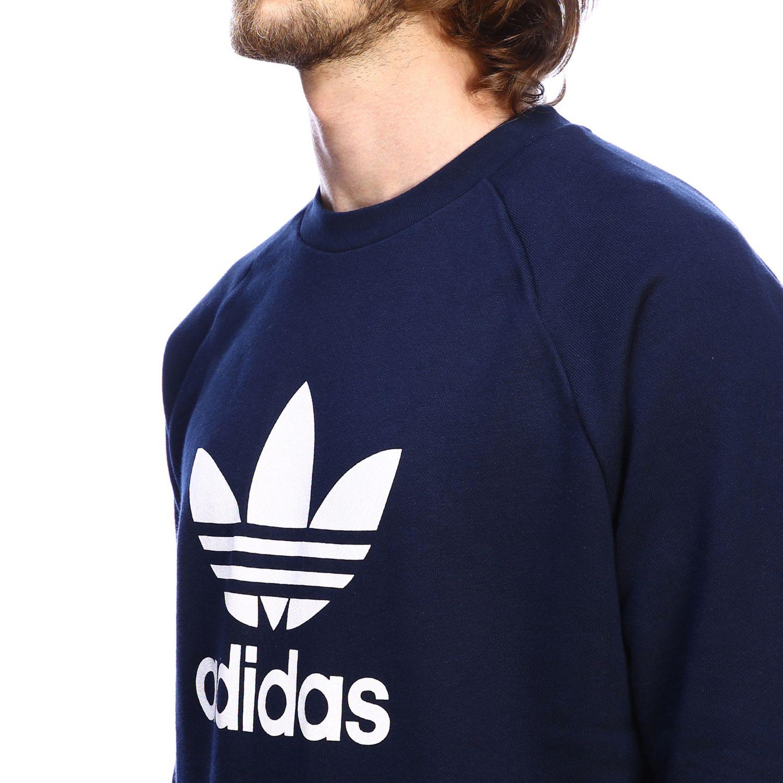 Adidas Originals logo印花圆领卫衣 蓝色 4