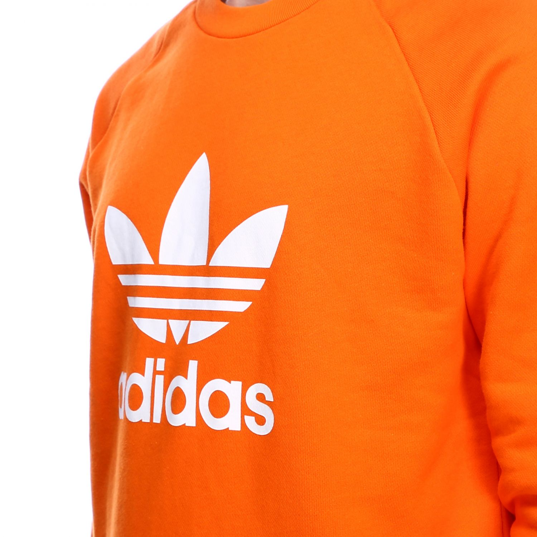 Sudadera Adidas Originals: Sudadera hombre Adidas Originals naranja 4