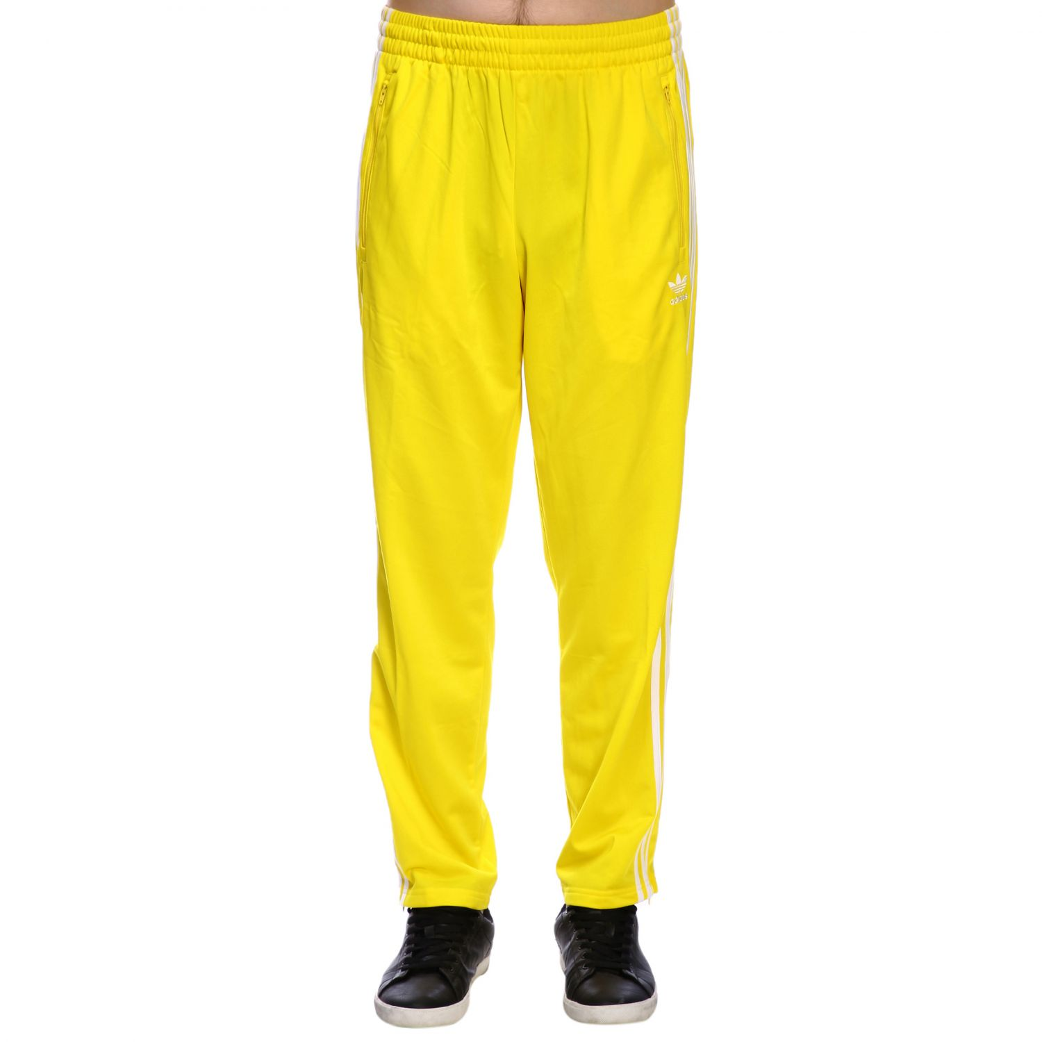 adidas pants yellow