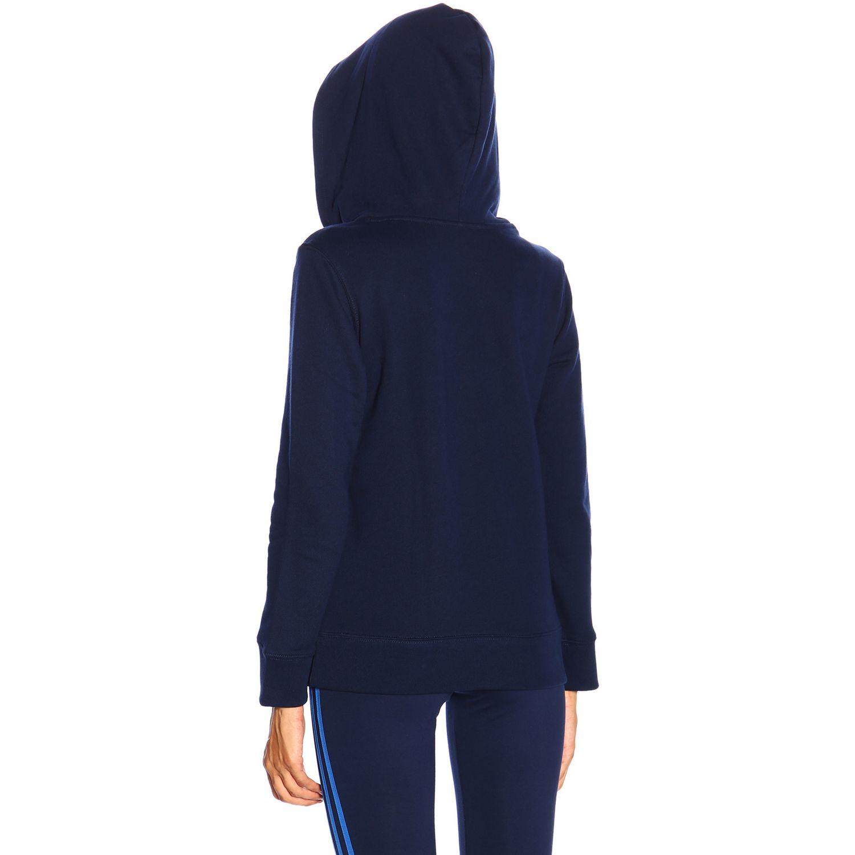 卫衣 Adidas Originals: Adidas Originals logo印花连帽卫衣 蓝色 3