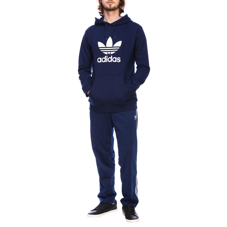 Sudadera Adidas Originals: Sudadera hombre Adidas Originals azul oscuro 2