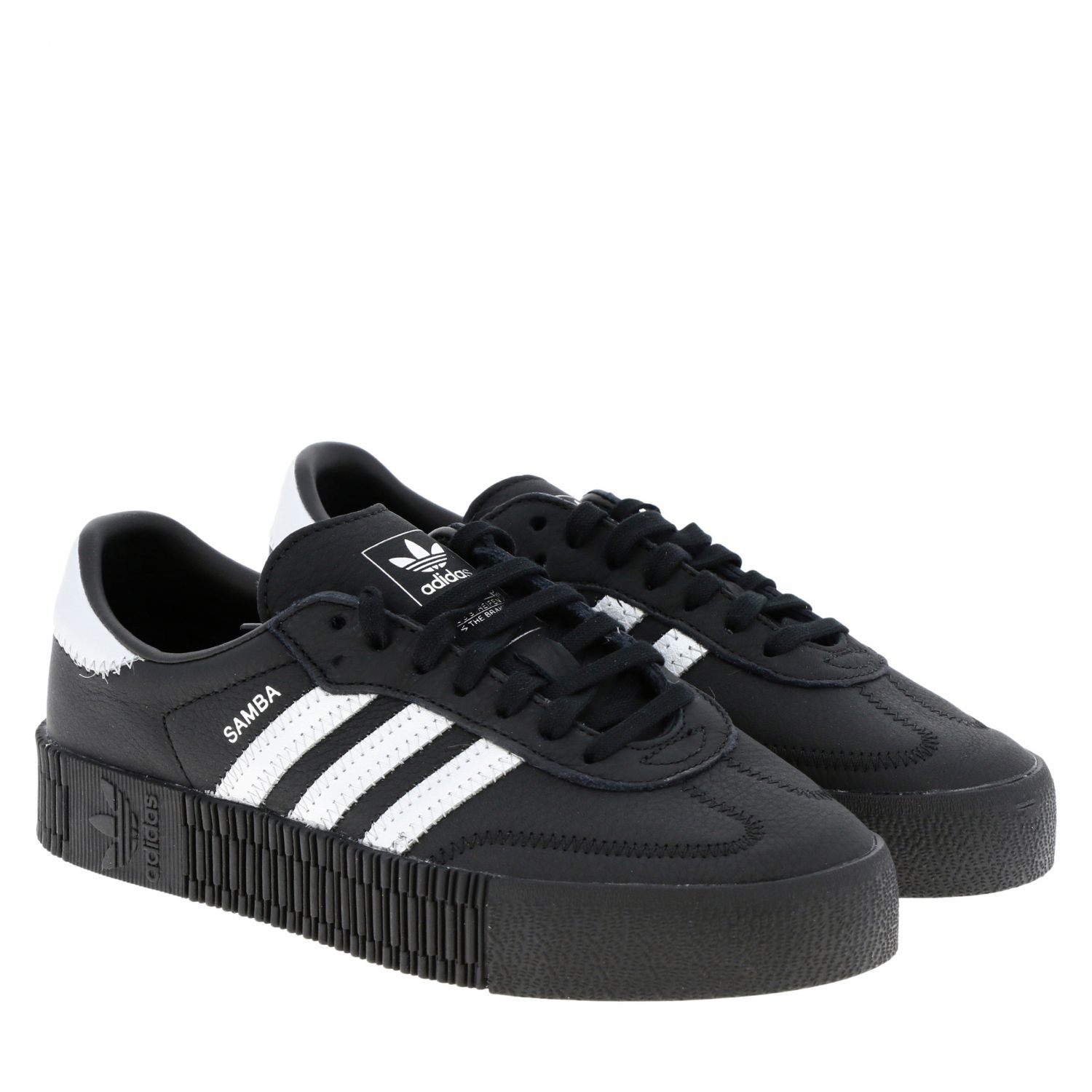 Sneakers Adidas Originals: Adidas Samba Originals By Pharrell Williams sneakers in smooth and laminated leather black 2