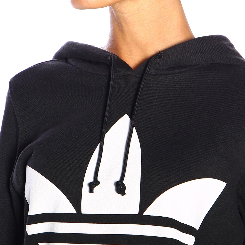 Felpa Adidas Originals con cappuccio e logo nero 4