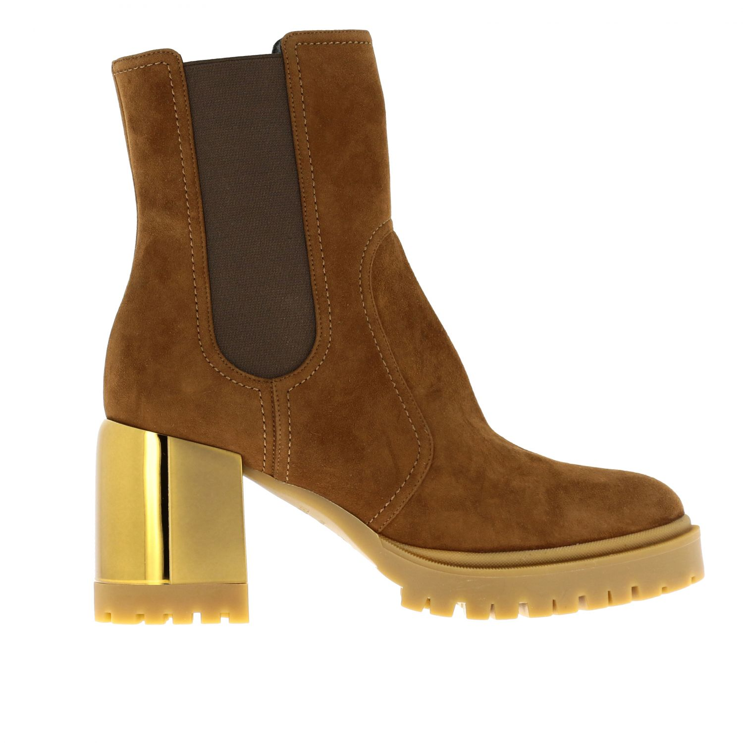 Heeled ankle boots women Casadei brown 1