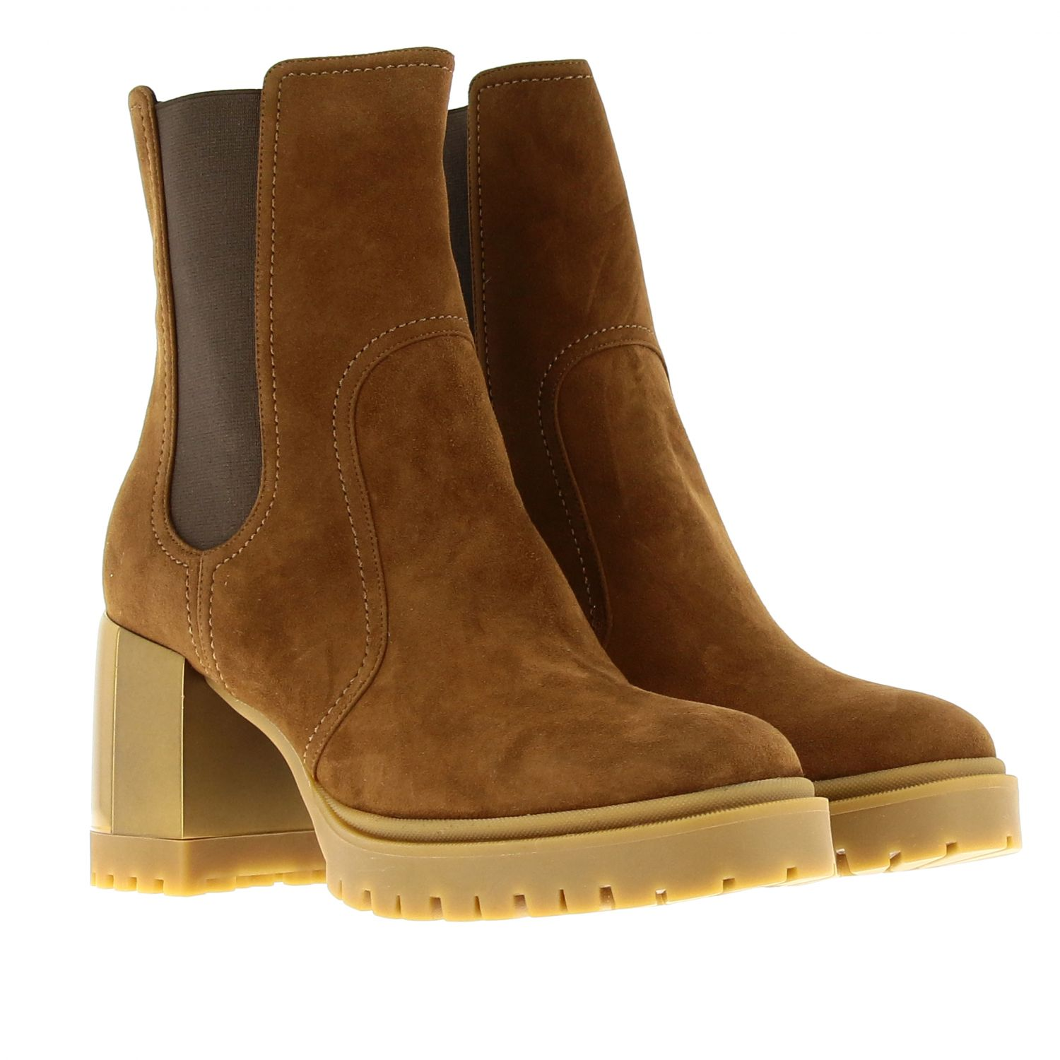 Heeled ankle boots women Casadei brown 2