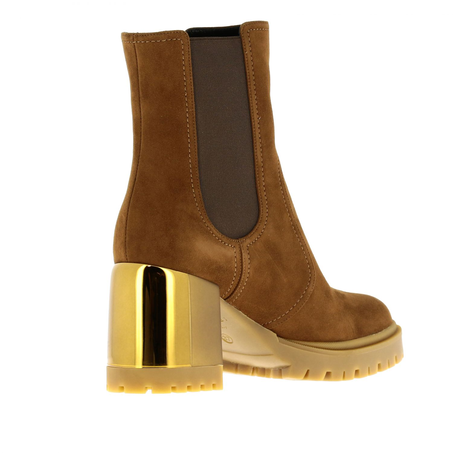 Heeled ankle boots women Casadei brown 5