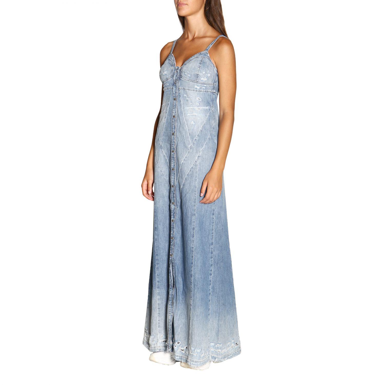 Kleid damen Diesel denim 4