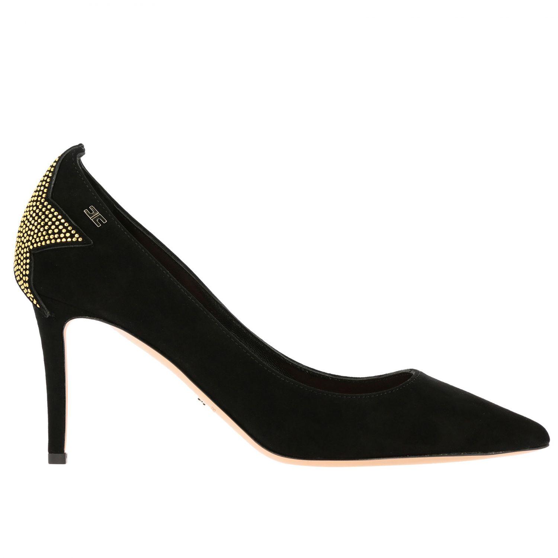 Scarpe con tacco Elisabetta Franchi: Décolleté Elisabetta Franchi con stella di strass nero 1
