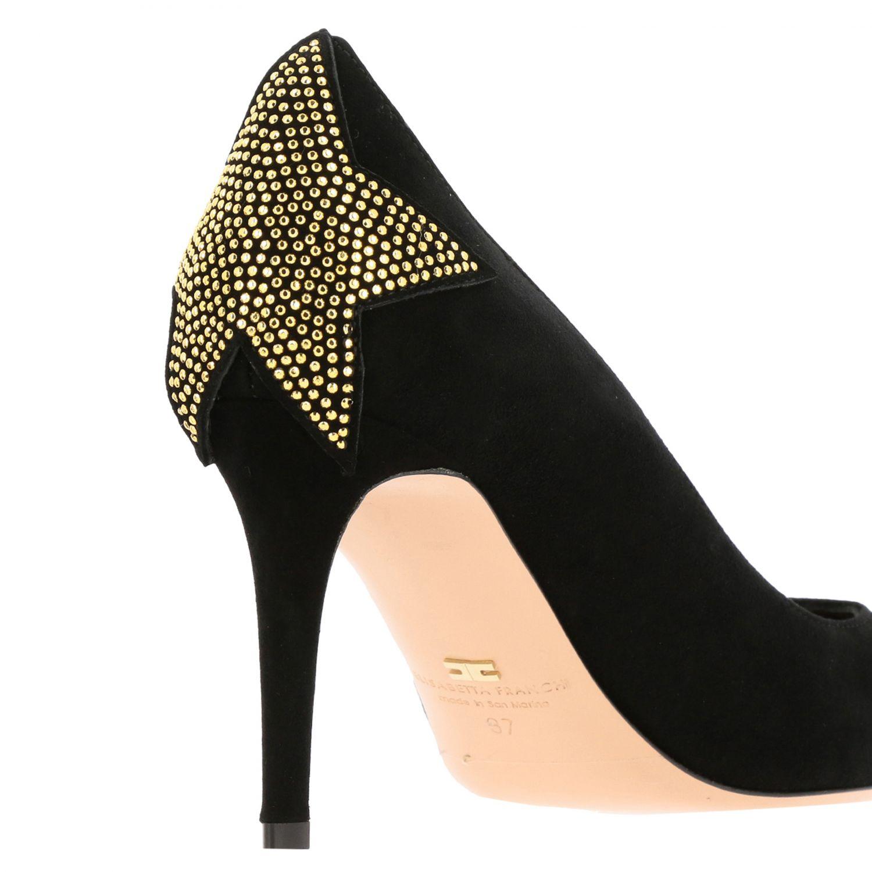 Scarpe con tacco Elisabetta Franchi: Décolleté Elisabetta Franchi con stella di strass nero 5