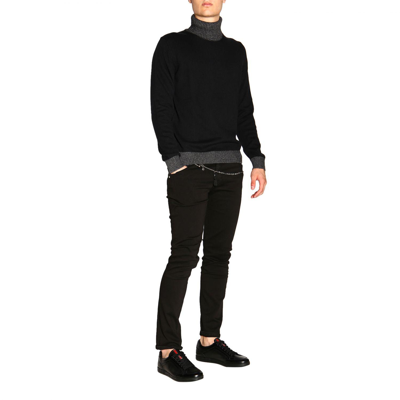 Colmar 基本款长袖高领毛衣 黑色 2
