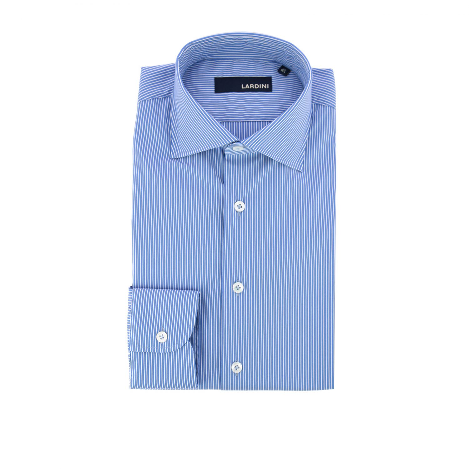 Shirt men Lardini gnawed blue 1