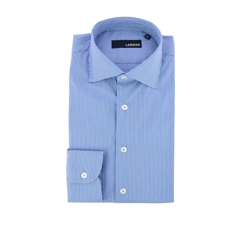 Camicia Lardini con collo francese azzurro 1