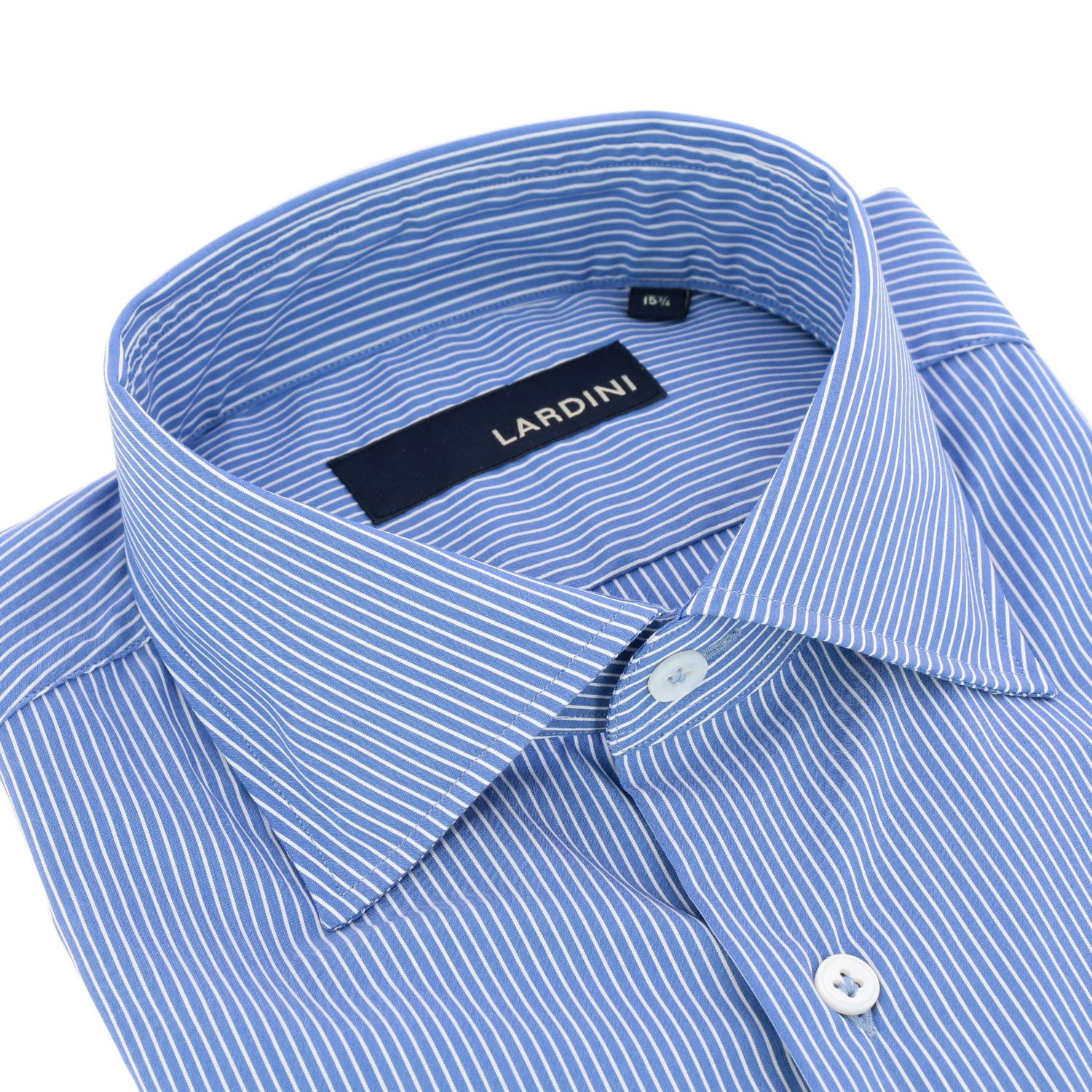 Shirt men Lardini gnawed blue 2