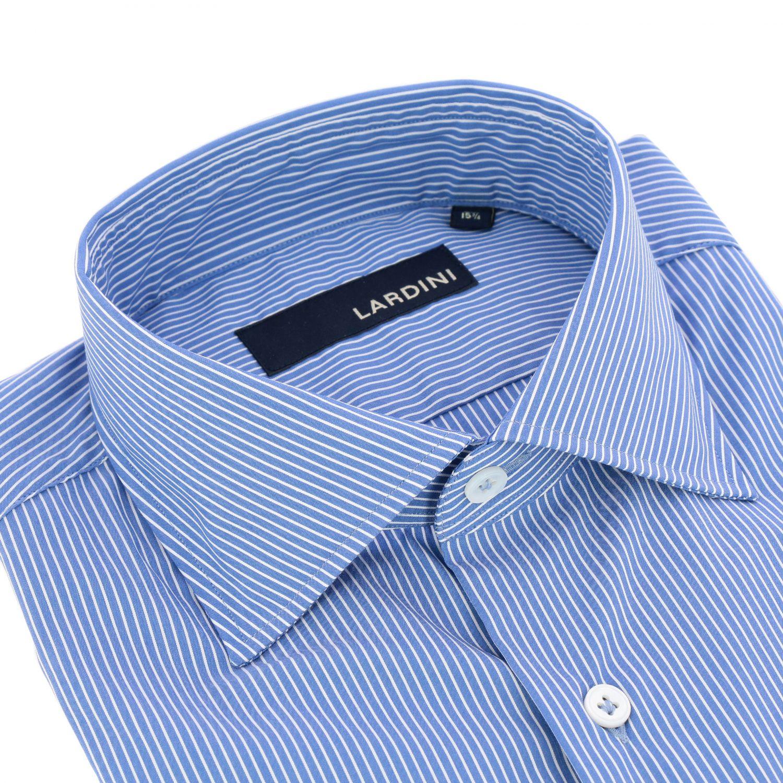 Camicia Lardini con collo francese azzurro 2