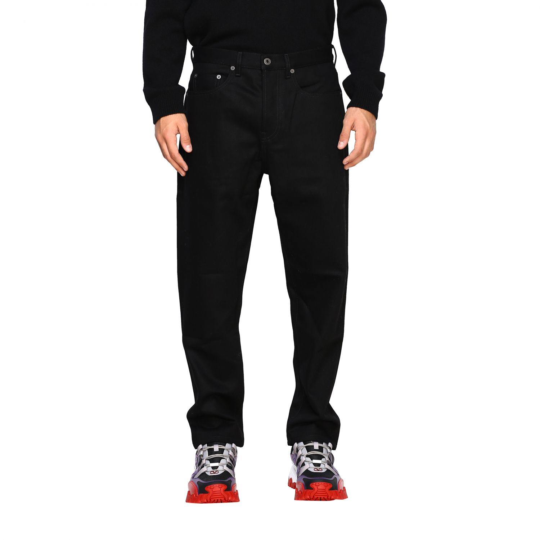 Valentino Denim Jeans mit 2099 Valentino Print schwarz 1