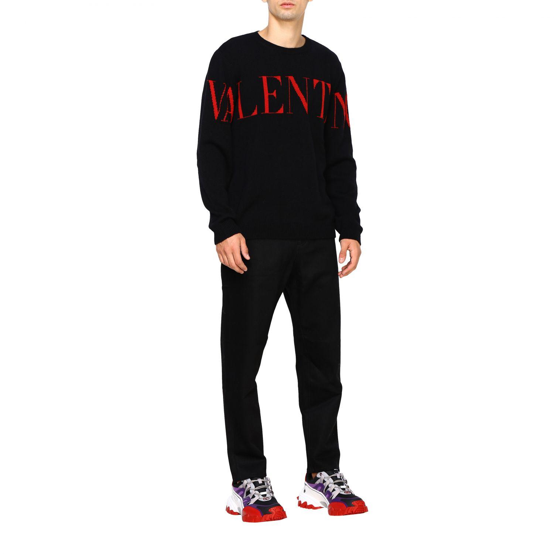 Valentino Denim Jeans mit 2099 Valentino Print schwarz 2
