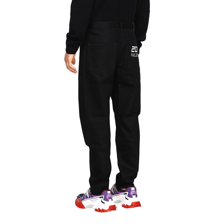 Valentino Denim Jeans mit 2099 Valentino Print schwarz 3