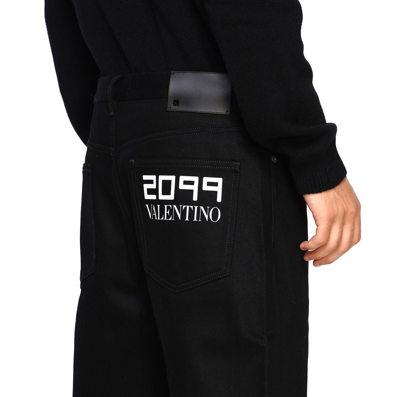 Valentino Denim Jeans mit 2099 Valentino Print schwarz 5