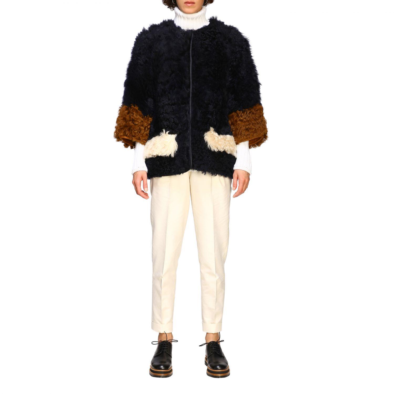 Fur coats Marni: Jacket women Marni blue 1