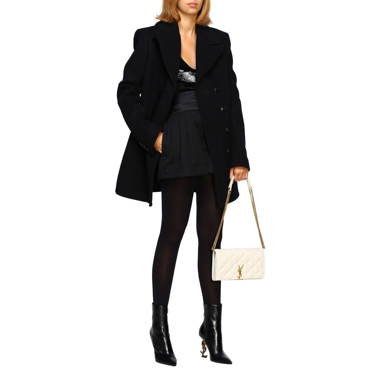 Pantaloncino donna Saint Laurent nero 2