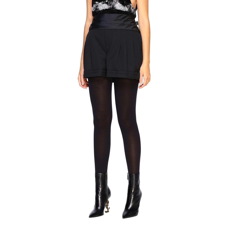 Pantaloncino donna Saint Laurent nero 4