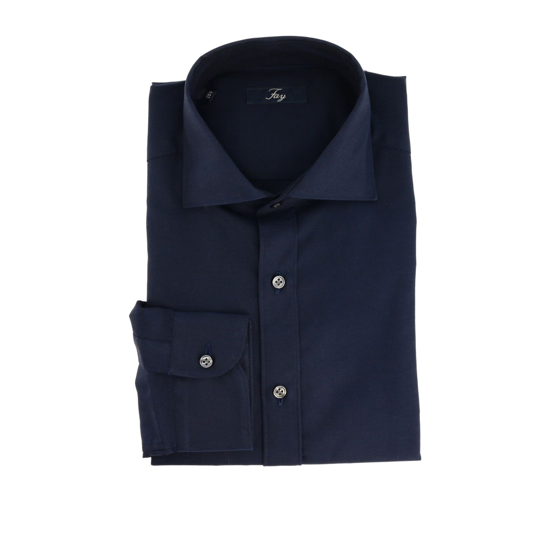 Shirt men Fay blue 1