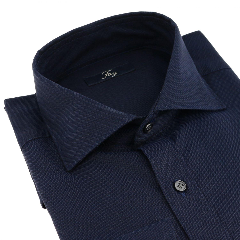 Shirt men Fay blue 2