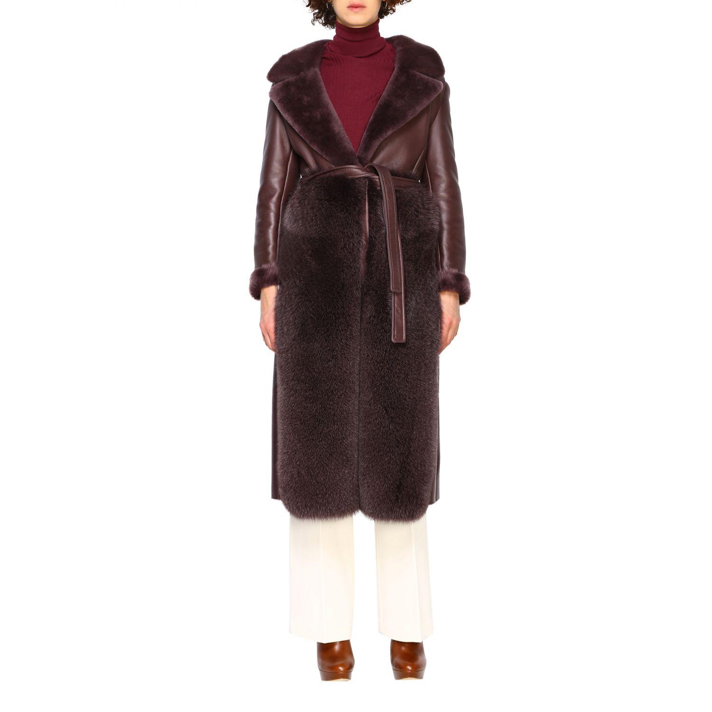 Пальто Женское Blancha бургунди 1