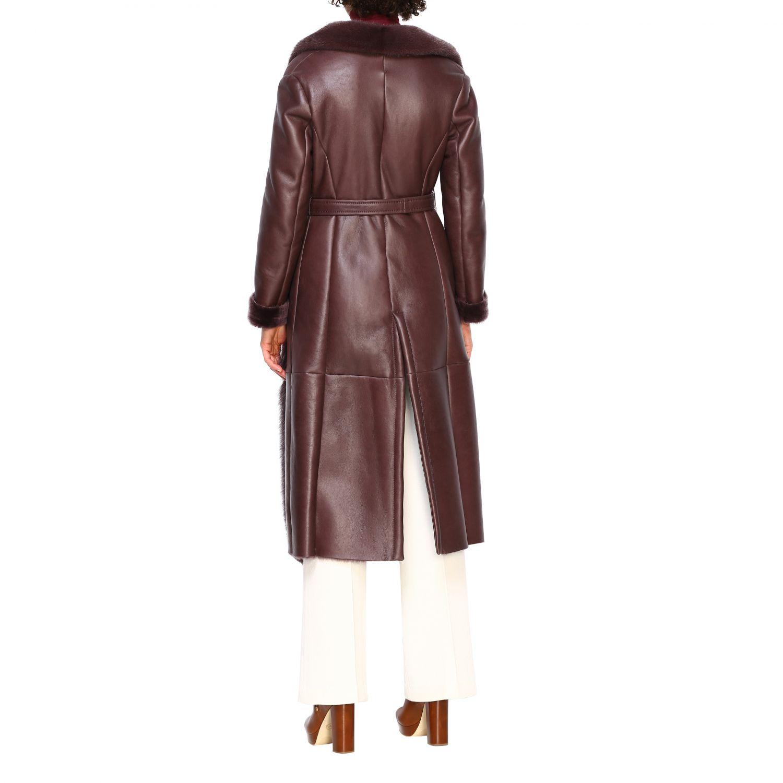 Пальто Женское Blancha бургунди 3