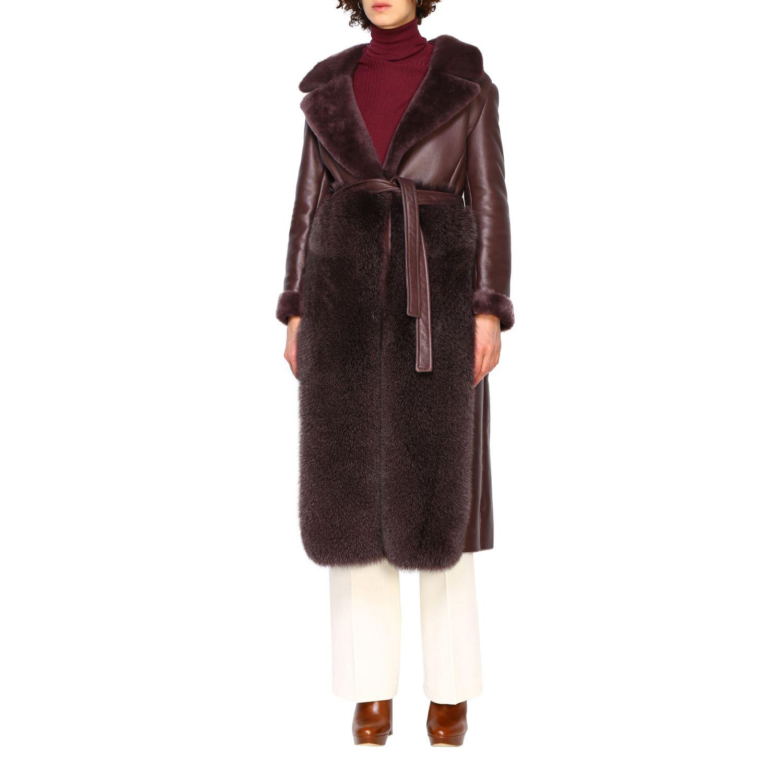 Пальто Женское Blancha бургунди 4