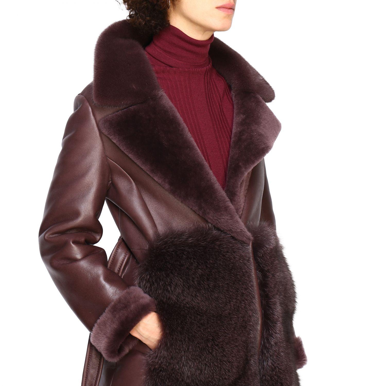 Пальто Женское Blancha бургунди 5