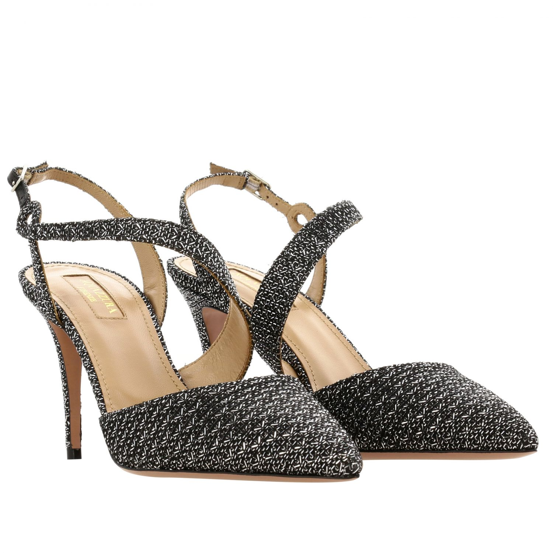 Sandalo Aquazzura con fasce incrociate nero 2