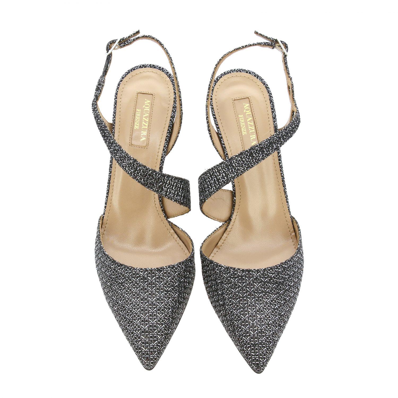 Sandalo Aquazzura con fasce incrociate nero 3